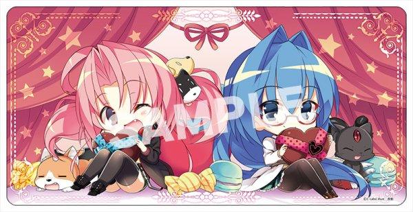 画像1: 【カードラボ限定】カードラボプレイマット『バレンタイン ver』illust:斎創先生 (1)