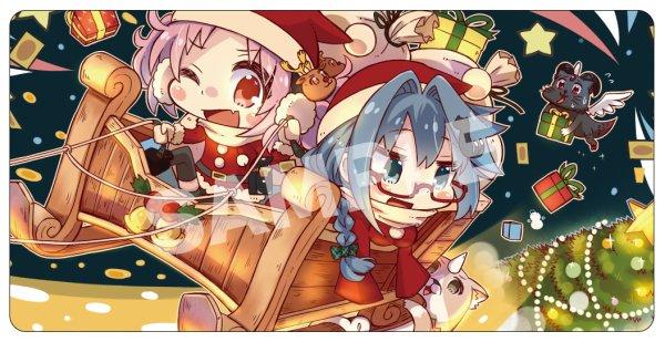 画像1: 【カードラボ限定】[プレイマット]カードラボ 『ららみ&ぼたん クリスマスVer』 (1)