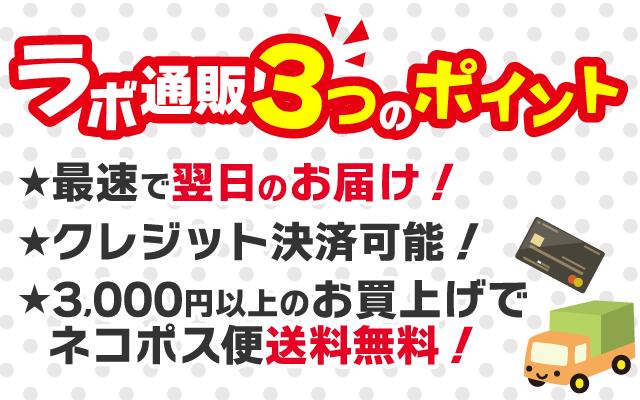 最速で翌日のお届け クレジット決済可能  3,000円以上のお買上げでネコポス便送料無料!